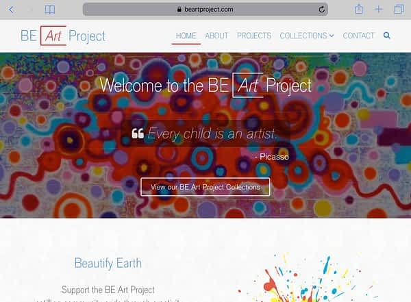 BE Art Project Tablet Home