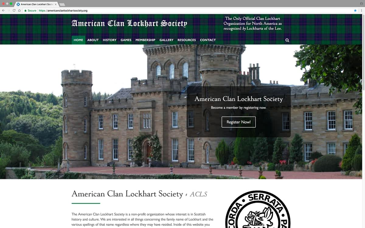American Clan Lockhart Society Desktop Home
