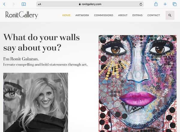 RonitGallery Tablet Home