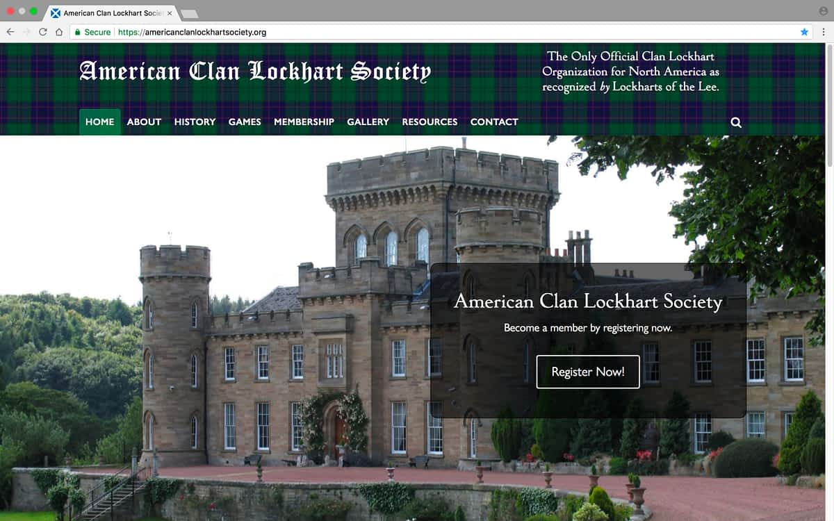 American Clan Lockhart Society Laptop Home