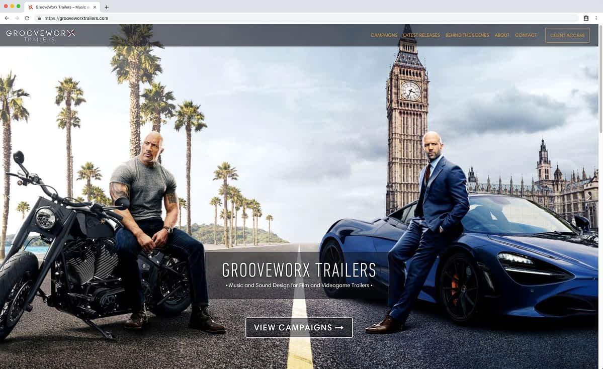 GrooveWorx Trailers Desktop Home