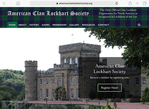 American Clan Lockhart Society Tablet Home