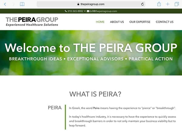 The Peira Group Tablet Home