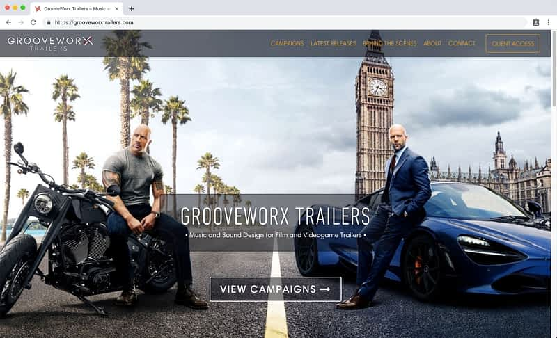 GrooveWorx Trailers Laptop Home
