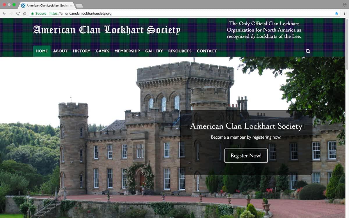 American Clan Lockhart Society Laptop Home