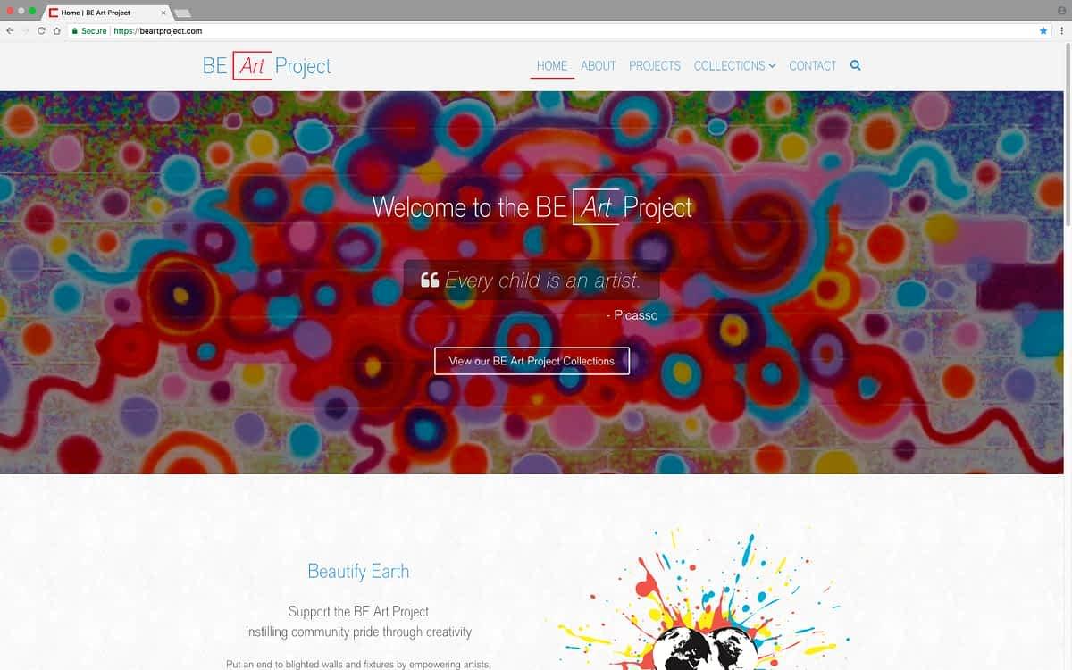 BE Art Project Desktop Home