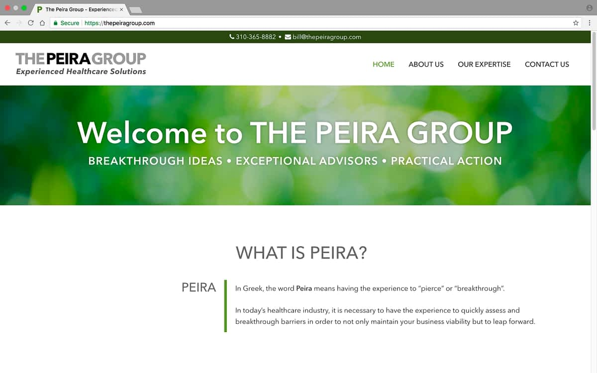 The Peira Group Laptop Home