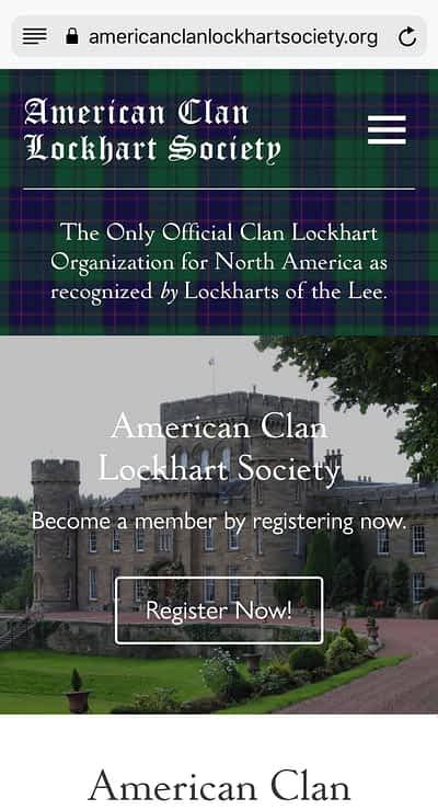 American Clan Lockhart Society Mobile Home