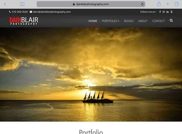 Dain Blair Photography Tablet Home