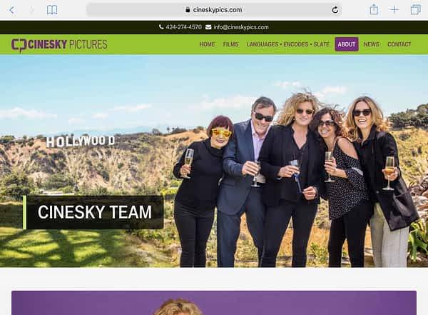 CineSky Pictures Tablet Home