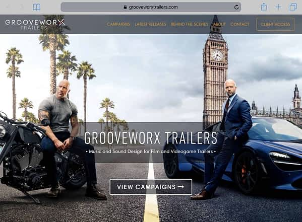 GrooveWorx Trailers Tablet Home